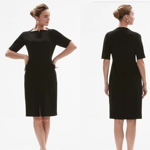 Mm Lafleur Steph Dress in Black Stretch Twill 2